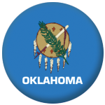 Oklahoma State Flag 58mm Mirror Keyring